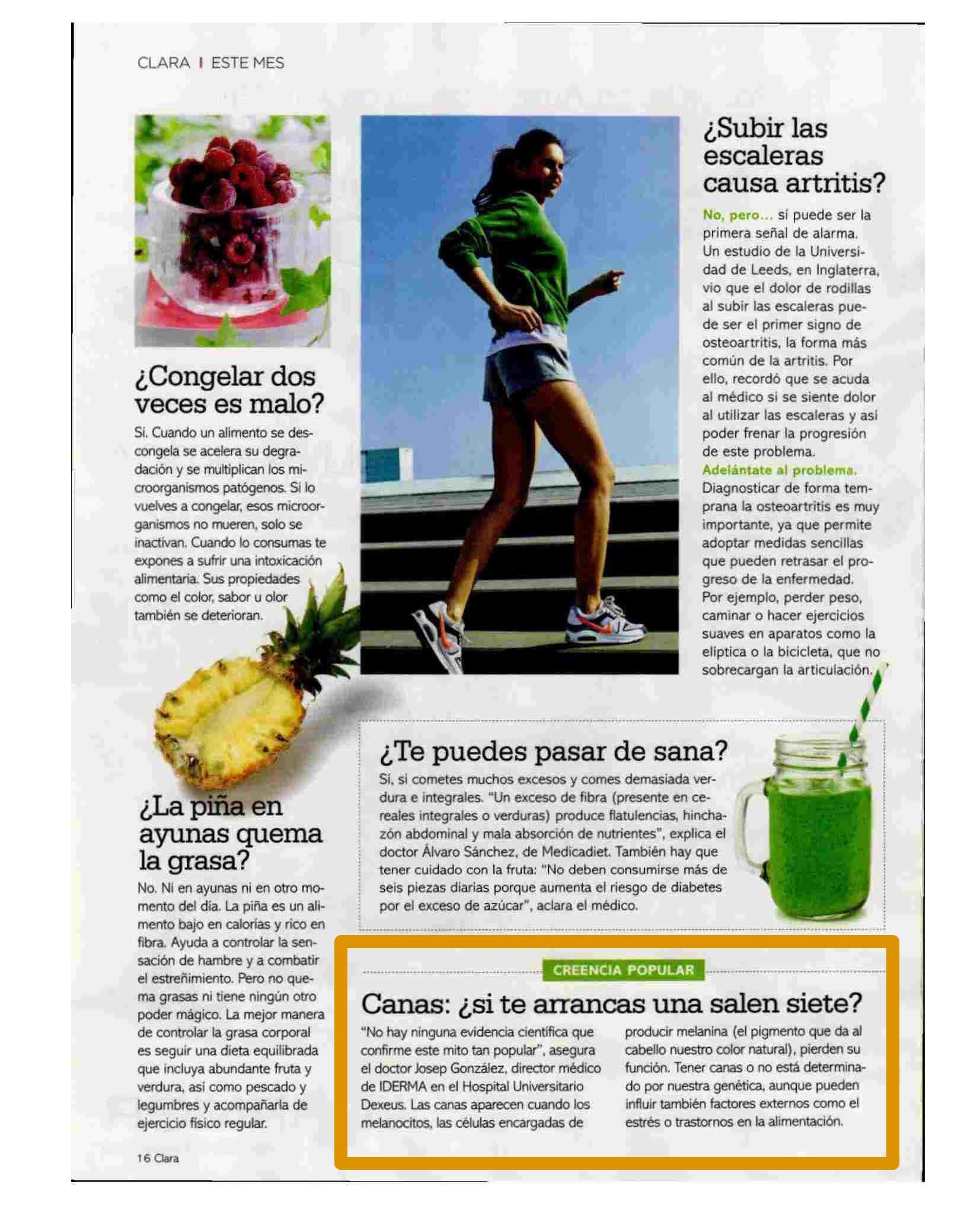 Reportaje Revista Clara con el Dr. Josep González Castro